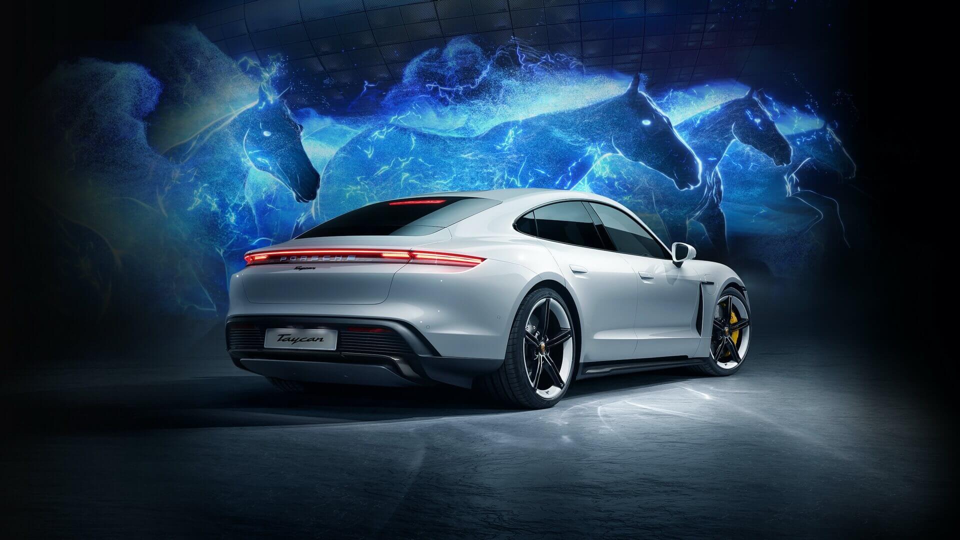 Porsche эффектно запустил Taycan в Южной Корее