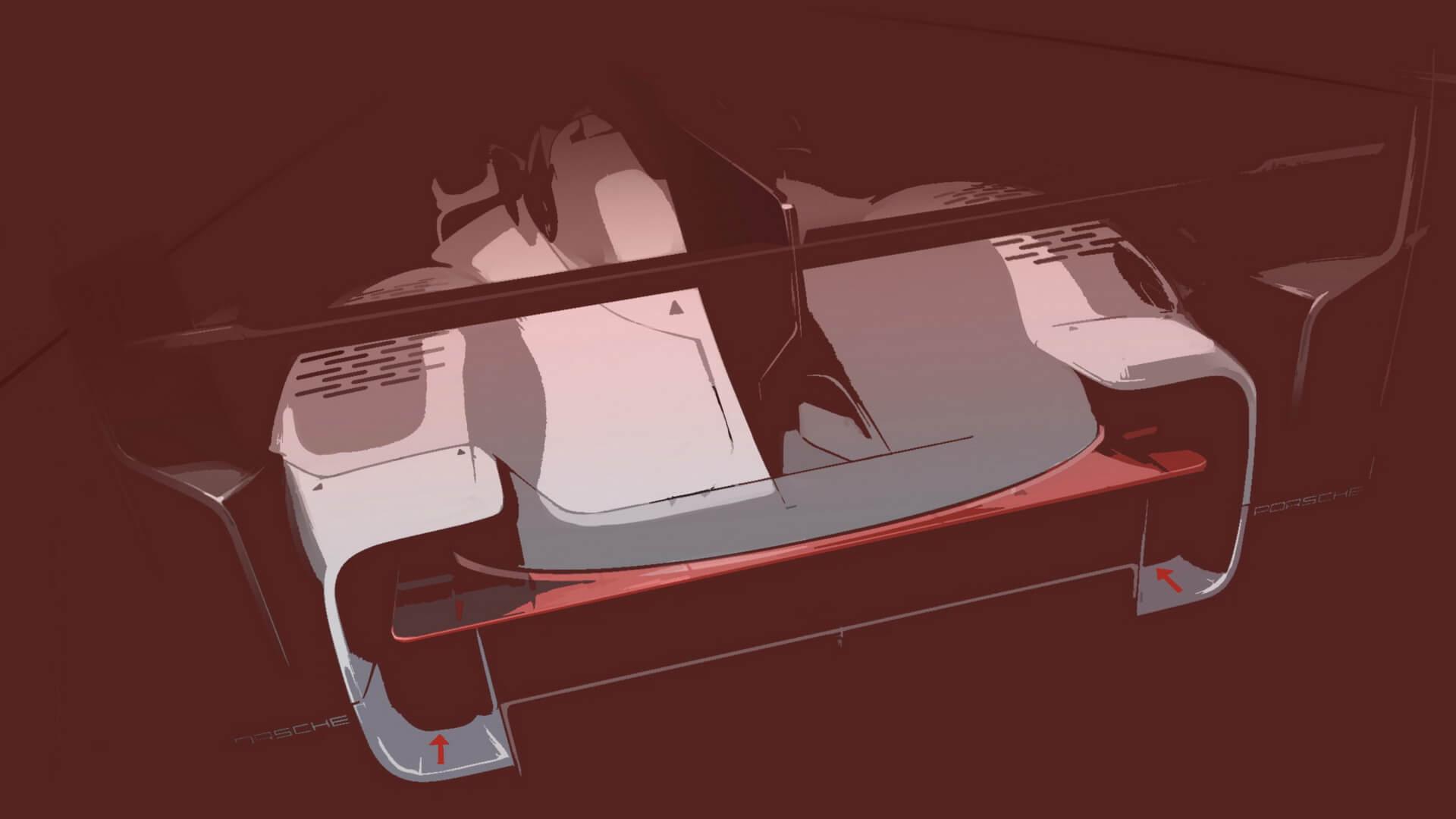 Прототип гибридного спортивного автомобиля Porsche