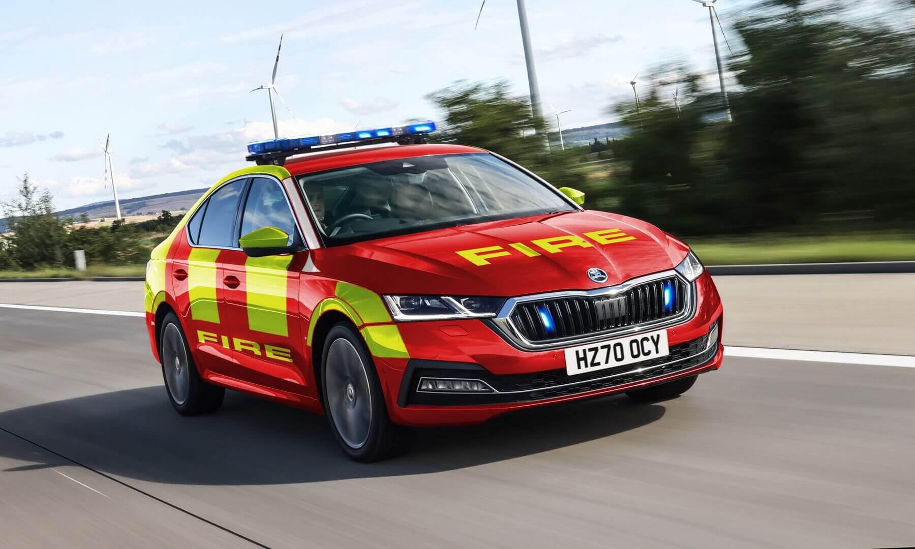 Плагин-гибридная Skoda Octavia iV для пожарных служб