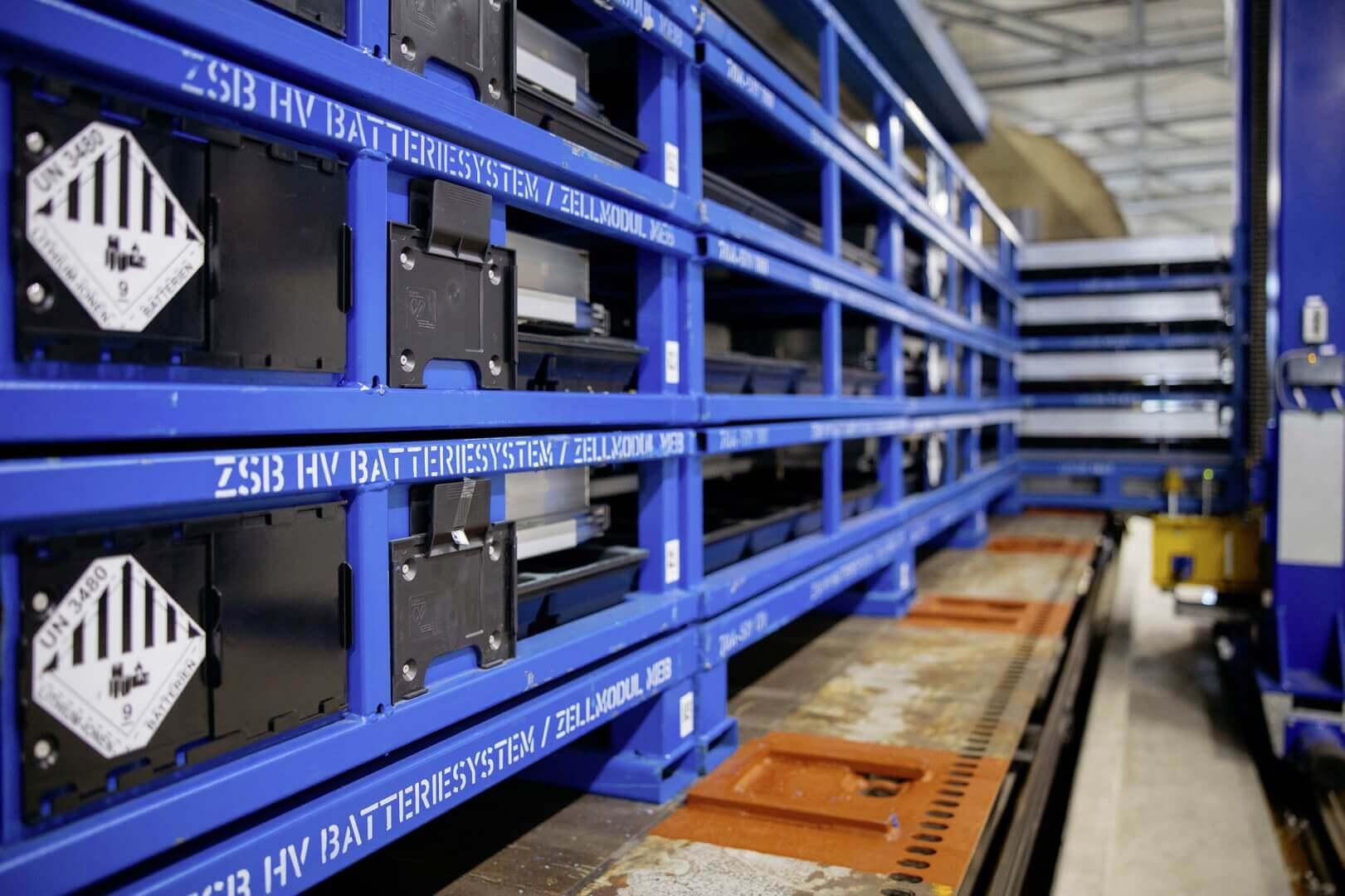 Volkswagen разработал специальные контейнеры, которые можно использовать как для модулей ячеек, так идля полностью собранных систем