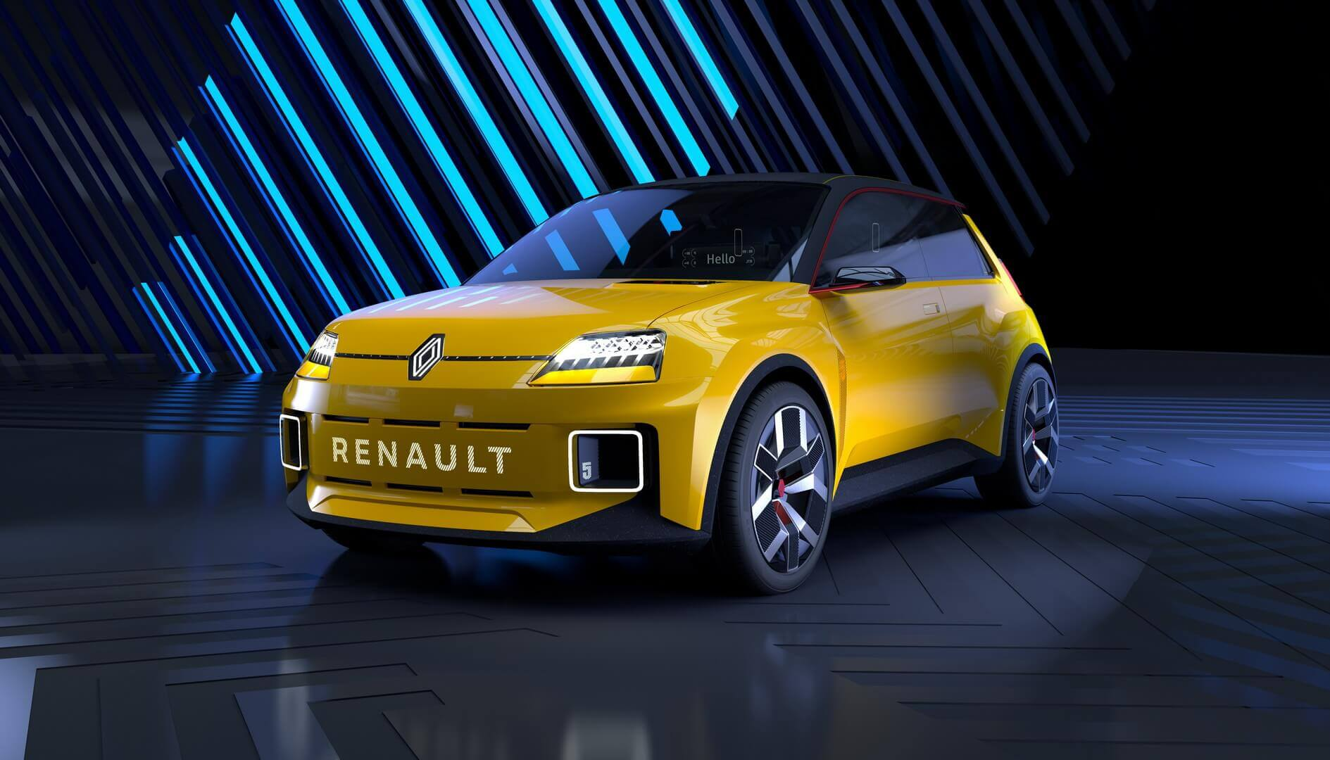 Концепт городского электромобиля Renault 5 Prototype в ретро стиле