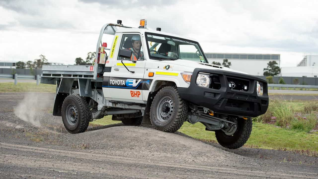 На австралийском руднике начали испытывать электромобиль Toyota