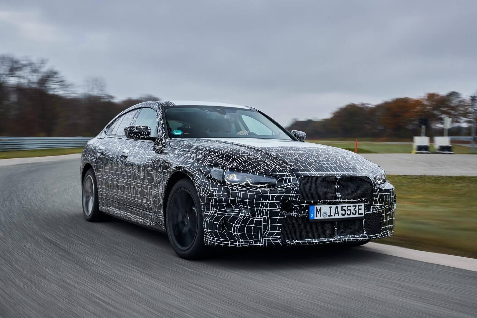 Прототип BMW i4 во время тестирования