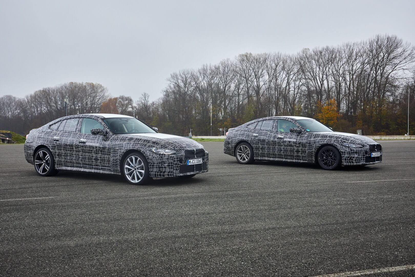 Прототипы BMW i4 во время тестирования