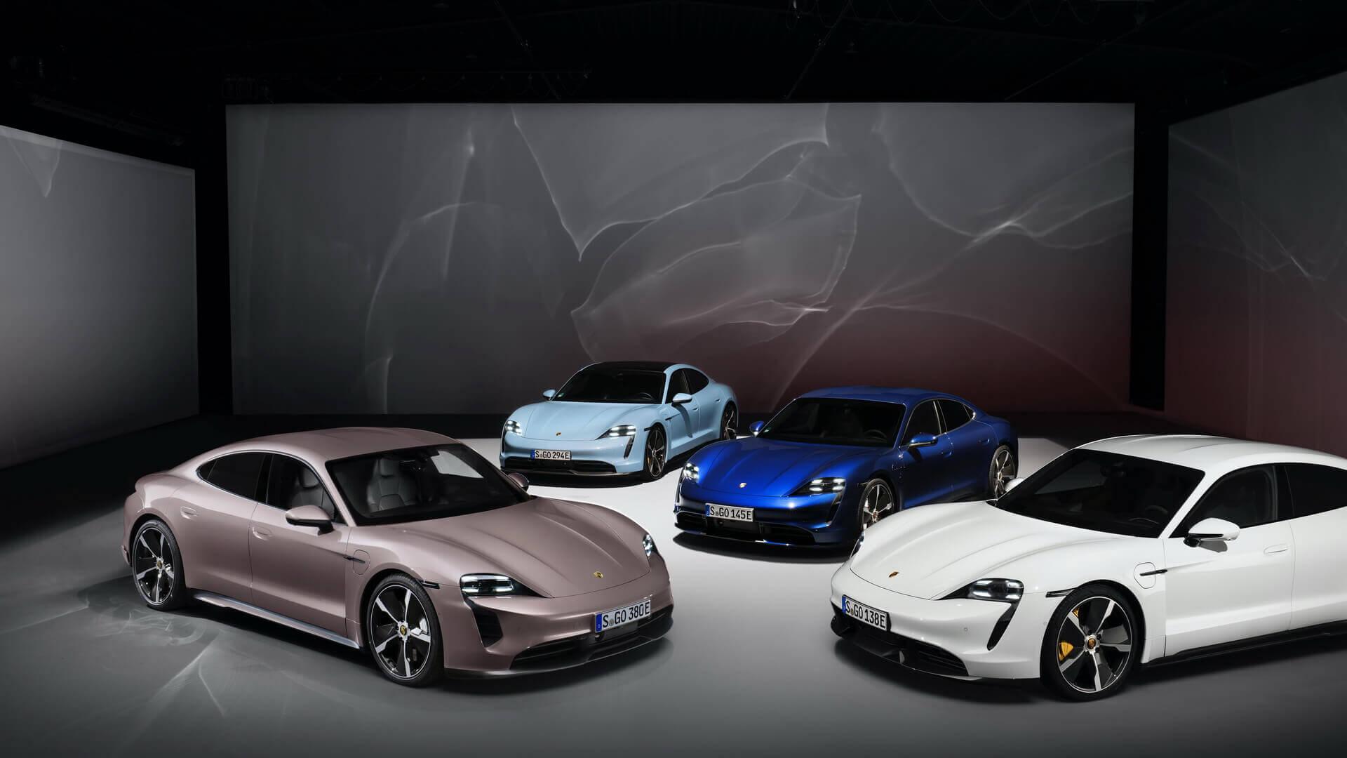 Модельный ряд электрических спортивных седанов Porsche Taycan