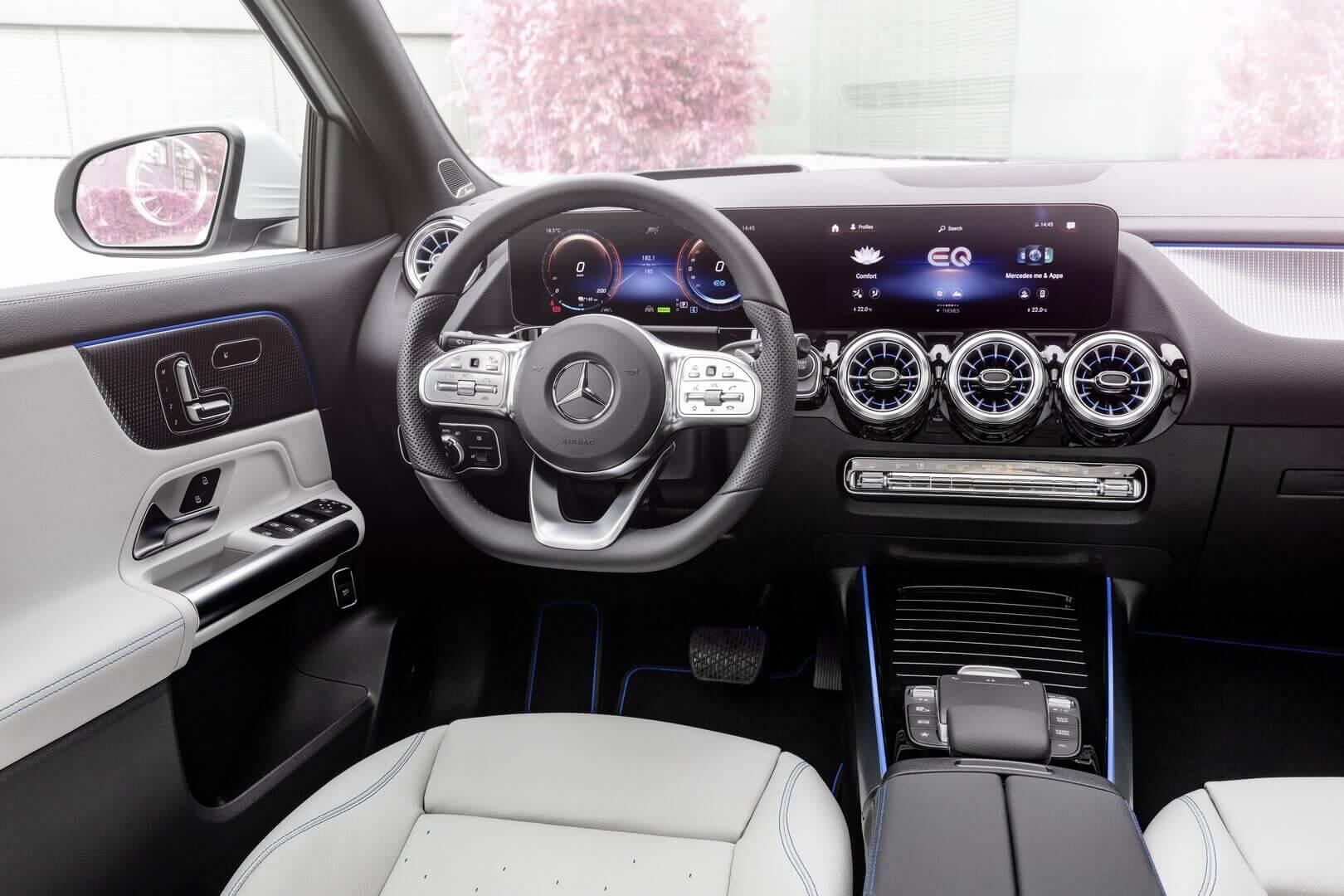 Интерьер Mercedes-Benz EQA версии Edition 1