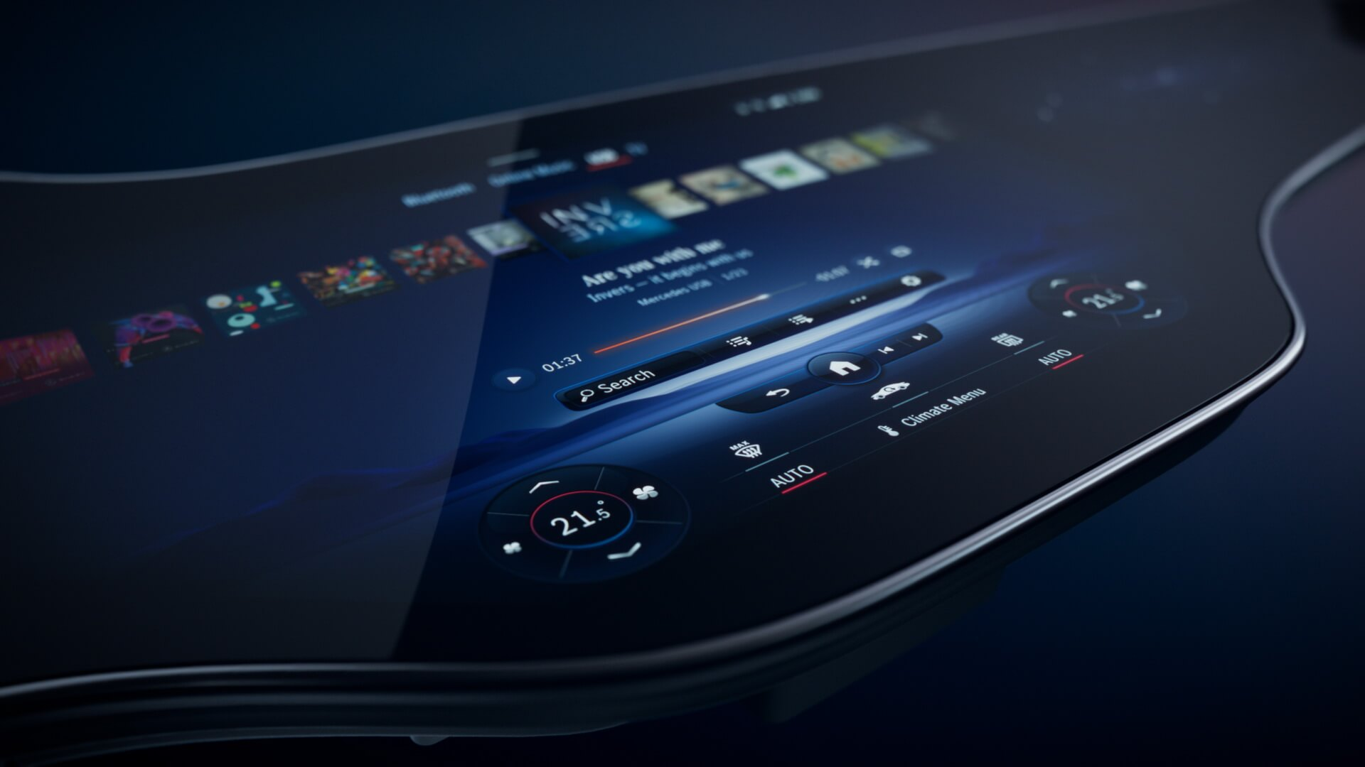 Уникальный изогнутый MBUX Hyperscreen с искусственным интеллектом от Mercedes-Benz