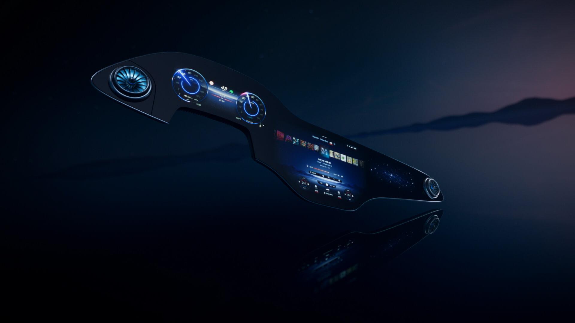 Mercedes-Benz показал огромный 56-дюймовый «гипердисплей»