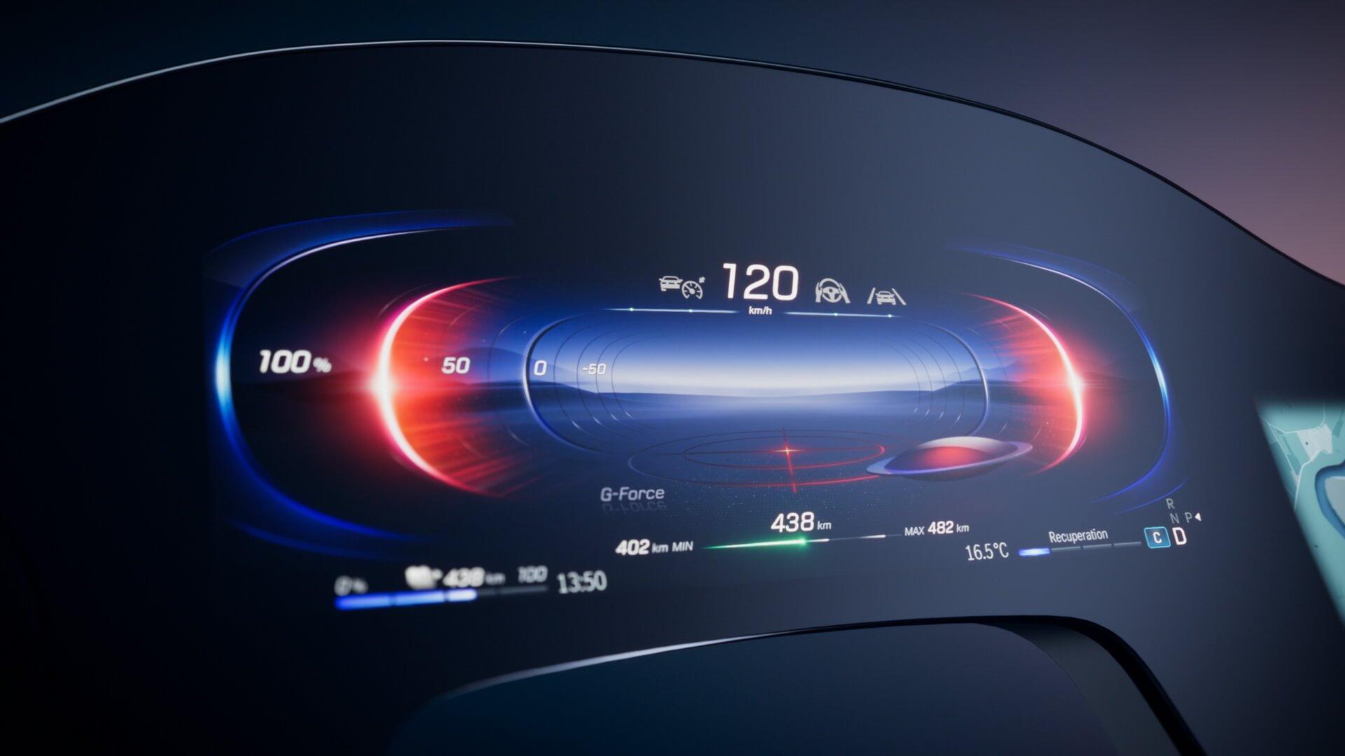 Mercedes-Benz EQS получит уникальный «гиперэкран» сискусственным интеллектом