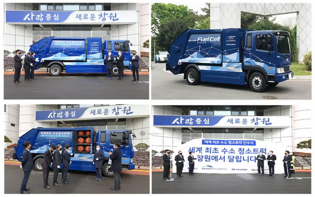 В Южной Корее введен в эксплуатацию первый водородный мусоровоз