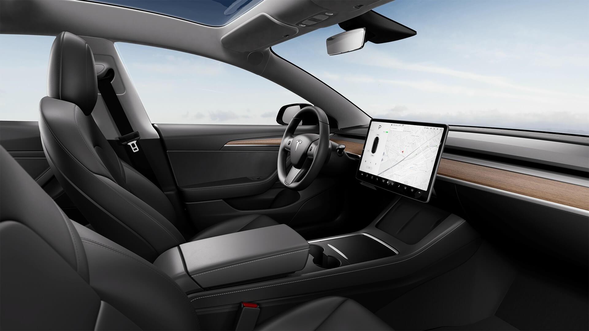 Обновленный интерьер китайской Tesla Model 3 © tesla.cn