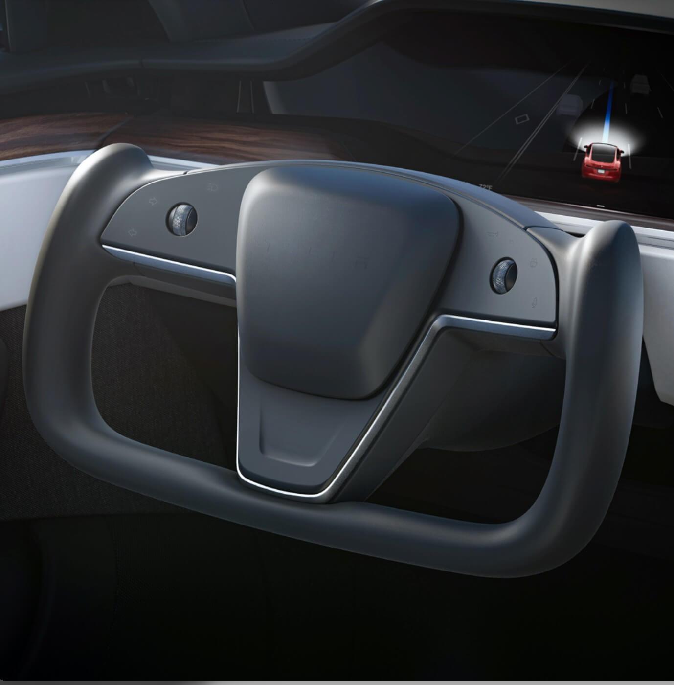Главная инновация новых Tesla Model S/X – сенсорный штурвал для активного драйва