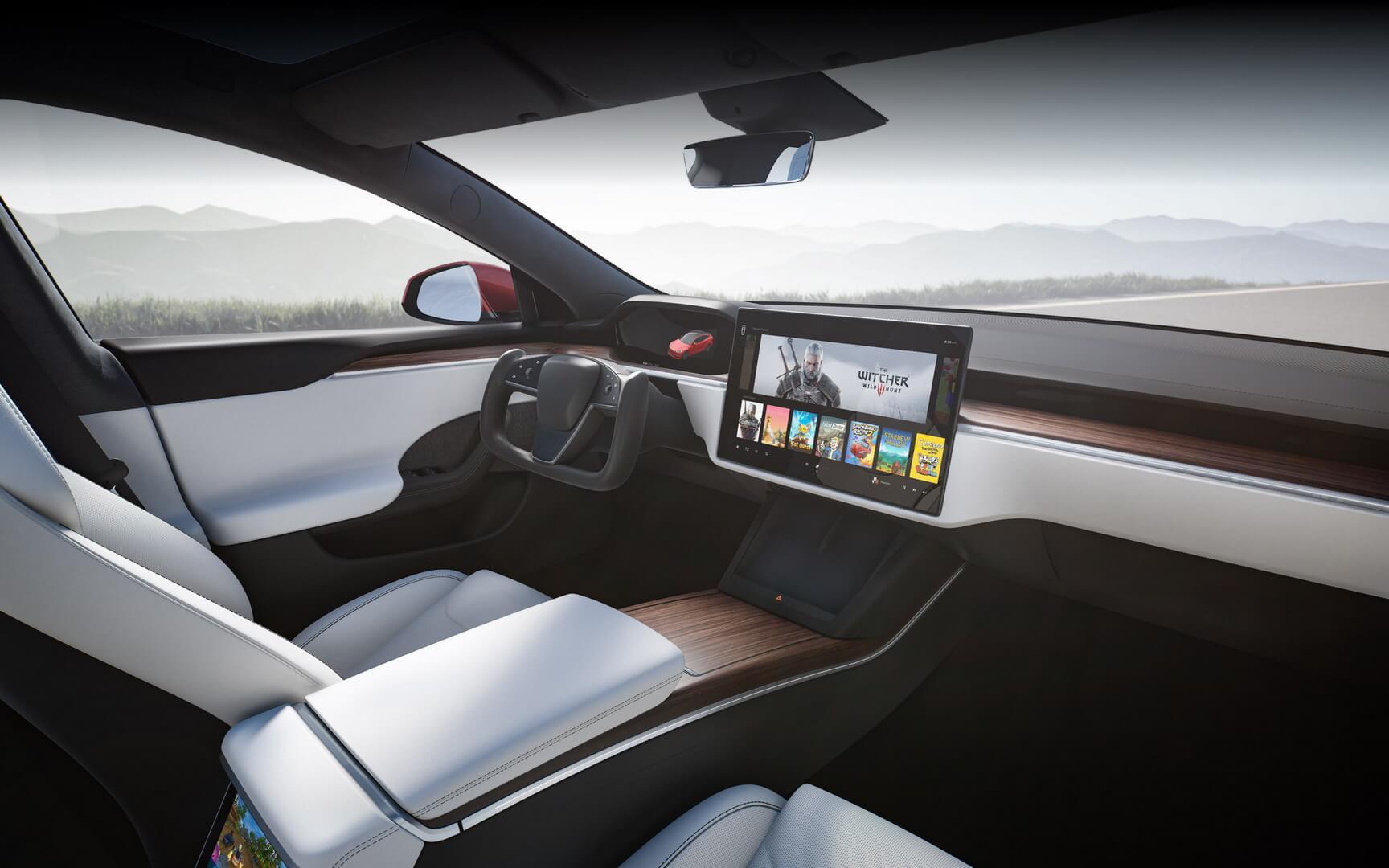 Новый интерьер Tesla Model S 2021 года