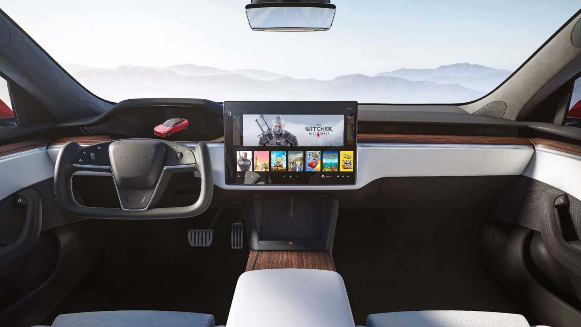 Обновленный интерьер Tesla Model S/X 2021 года
