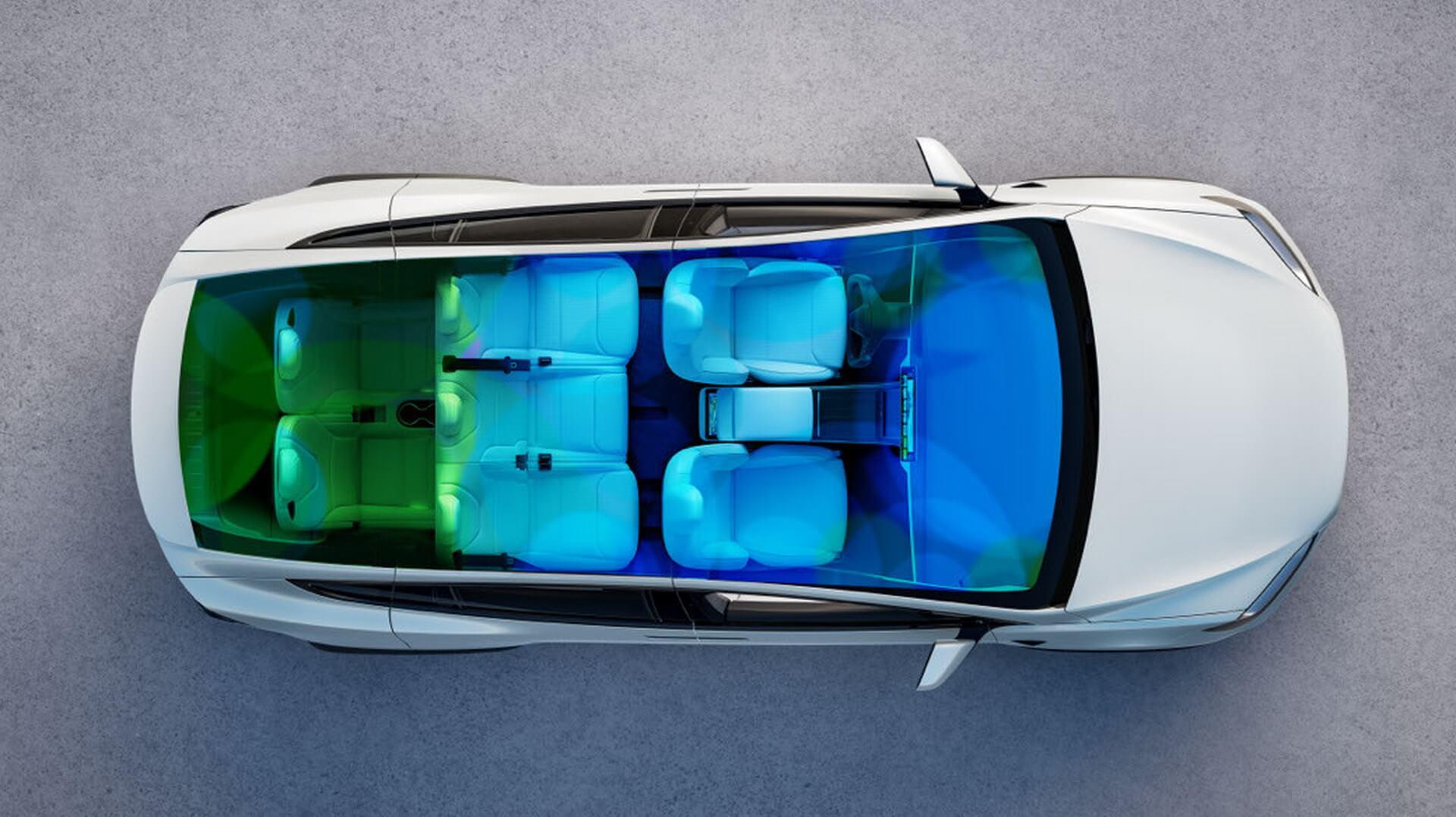 Семиместная компоновка обновленного кроссовера Tesla Model X 2021 года