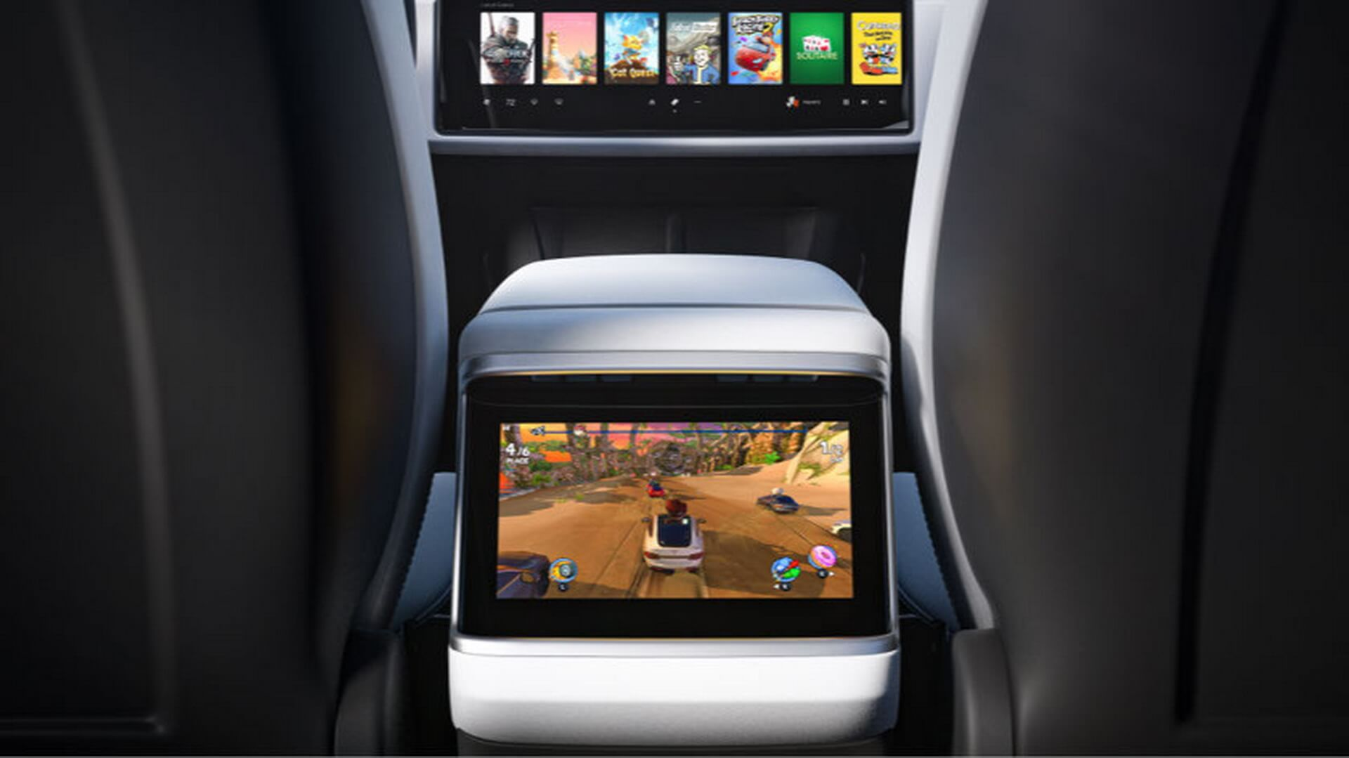 8-дюймовый сенсорный дисплей, расположенный в центральной консоли для второго ряда пассажиров