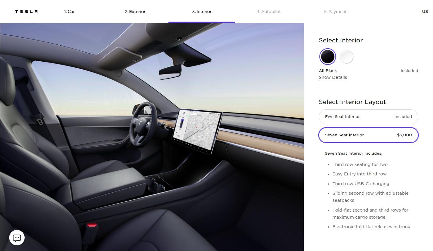 Tesla Model Y получила третий ряд сидений