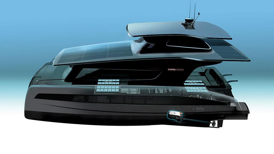 Volkswagen-CUPRA совместно сSilent-Yachts разработают электрическую яхту cсолнечными панелями наплатформе MEB