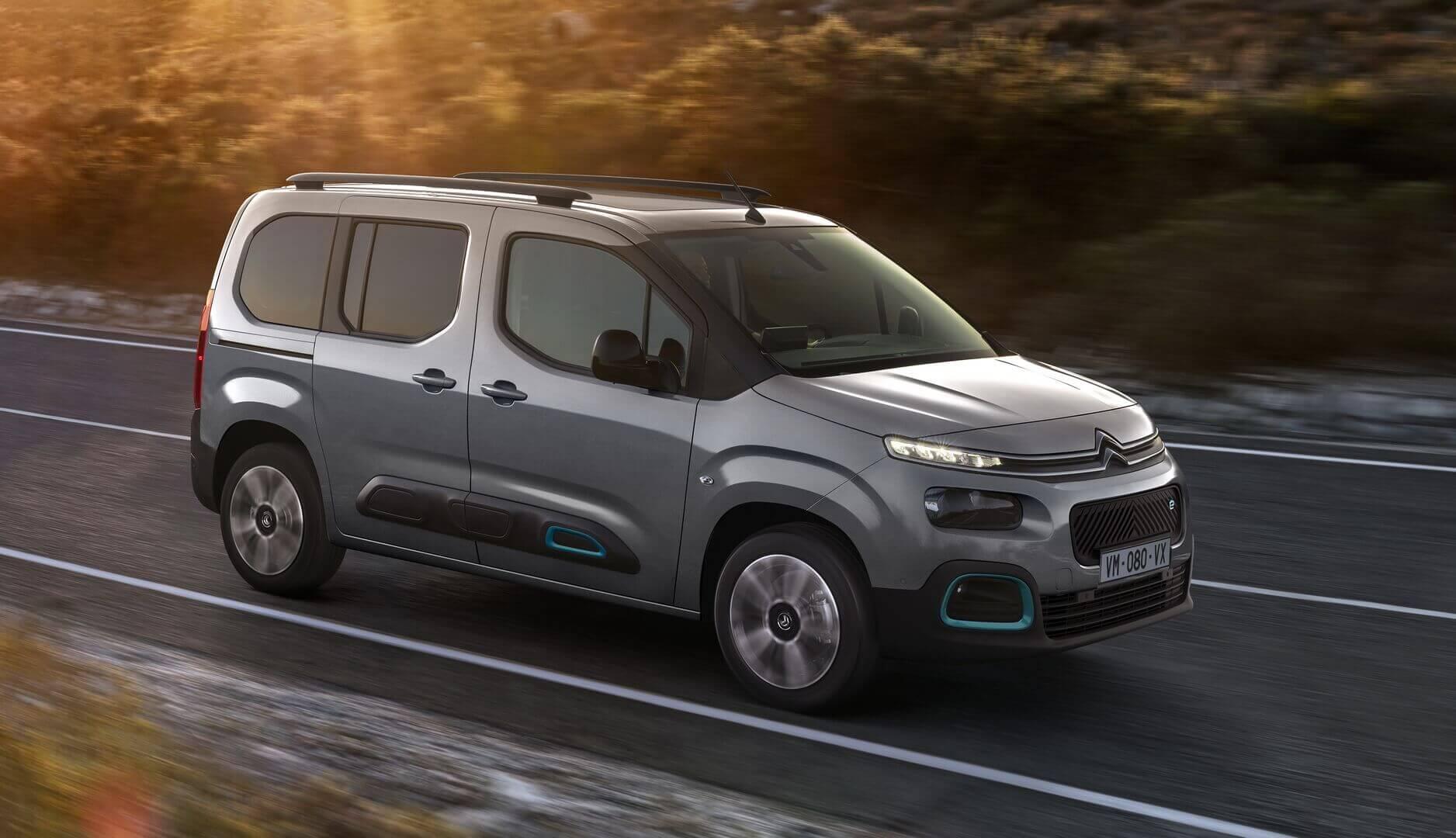 Citroën ë-Berlingo: компактный пассажирский электрофургон с пробегом до 280 км