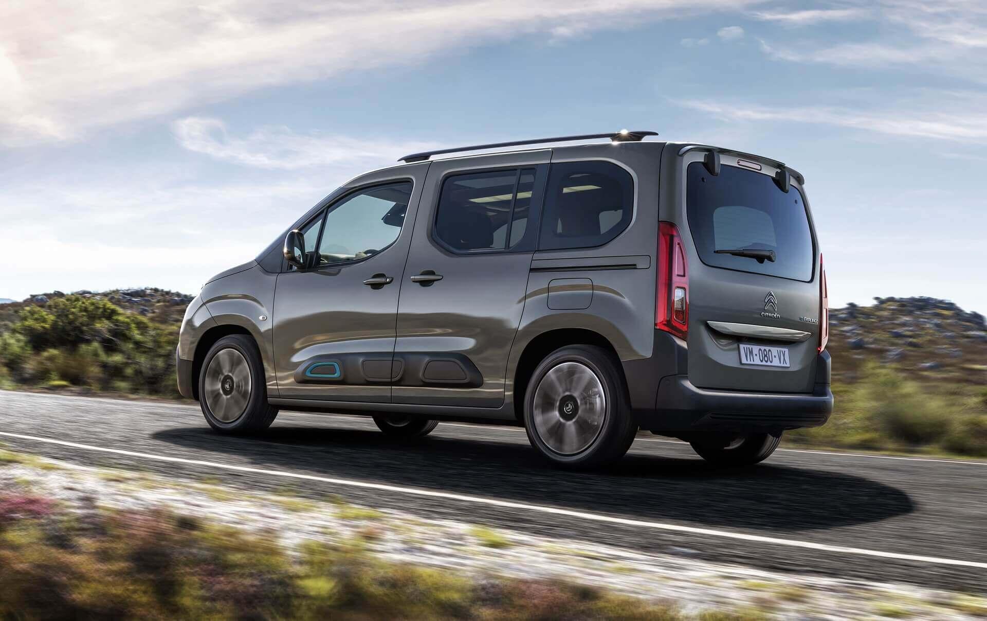 Электрический пассажирский фургон Citroën ë-Berlingo предлагается в двух вариантах длины