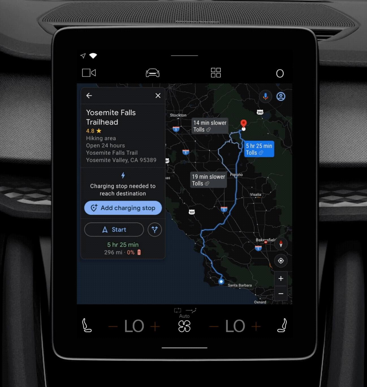 Новые функции Google Maps для Android Automotive в электромобилях Polestar 2 и Volvo XC40 Recharge улучшают планирование маршрута