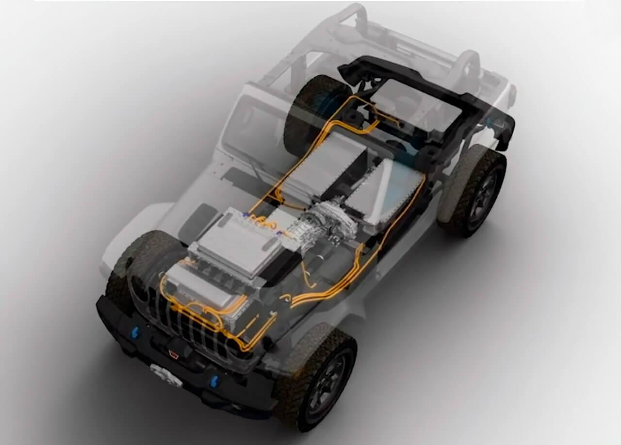 Тизер платформы полностью электрического концепта Jeep Wrangler