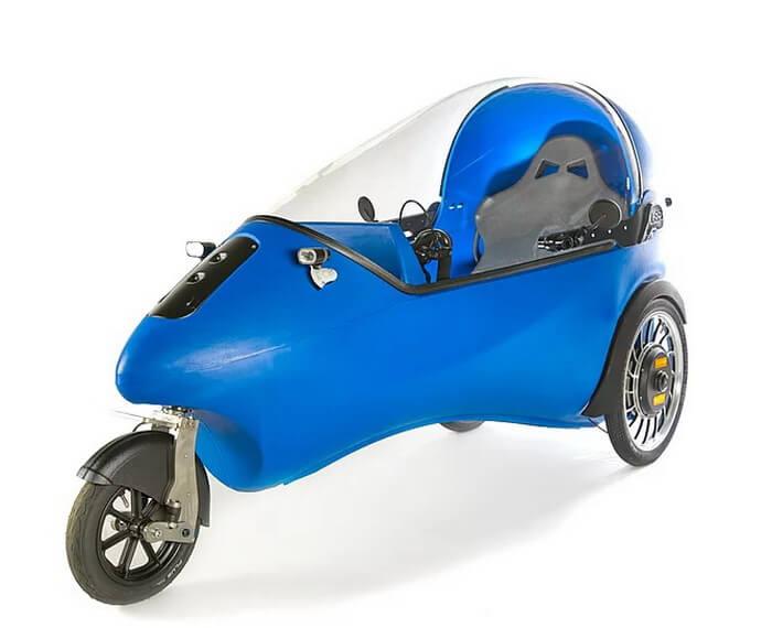 Голландский трехколесный электромобиль LEF