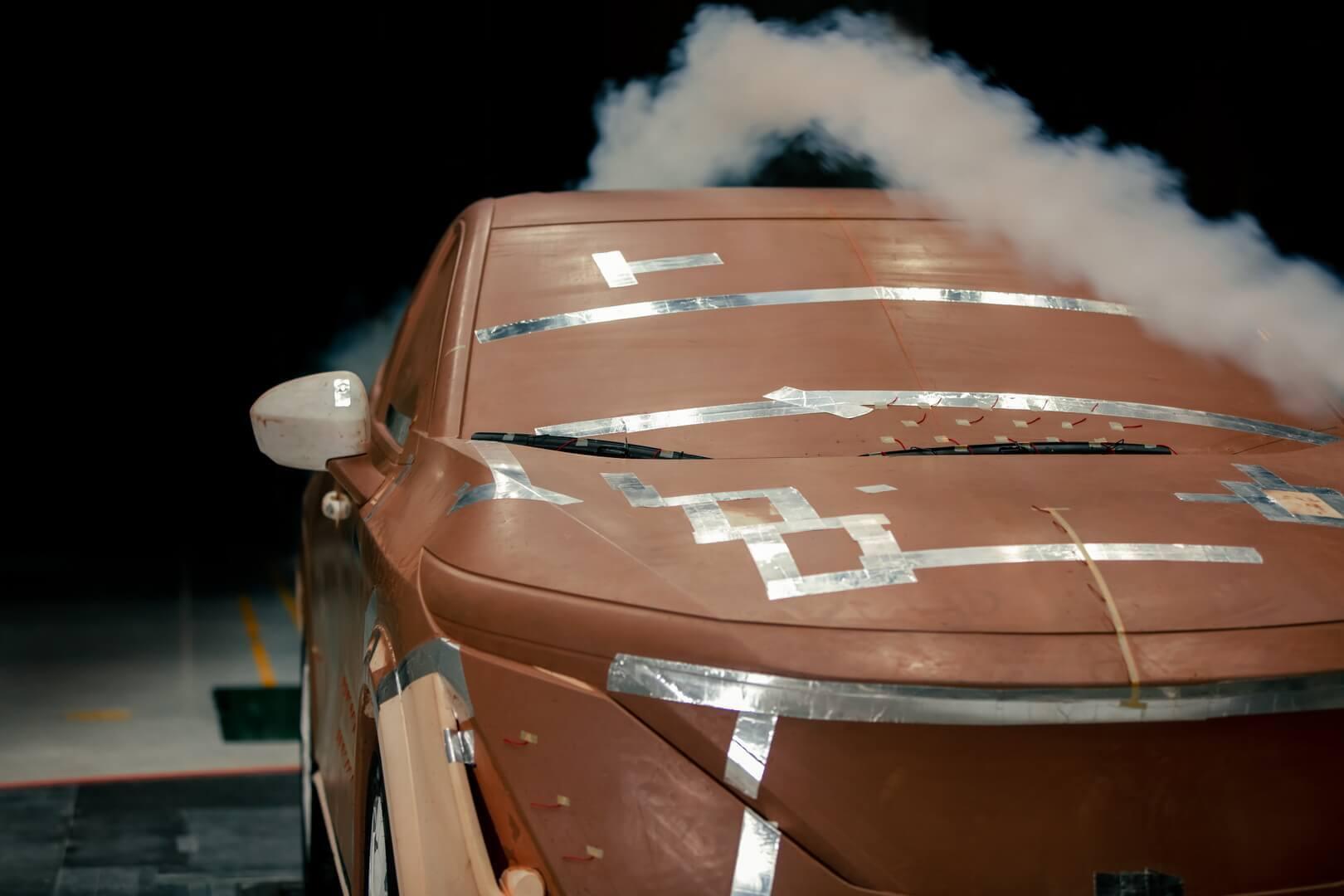 Форма кузова Ariya позволяет легко рассекать воздух и максимально увеличить эффективность
