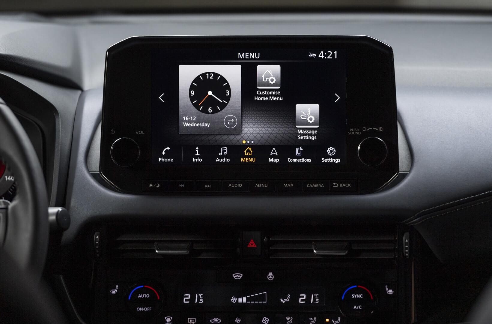 Новый Nissan Qashqai оснащен продвинутой информационно-развлекательной системой