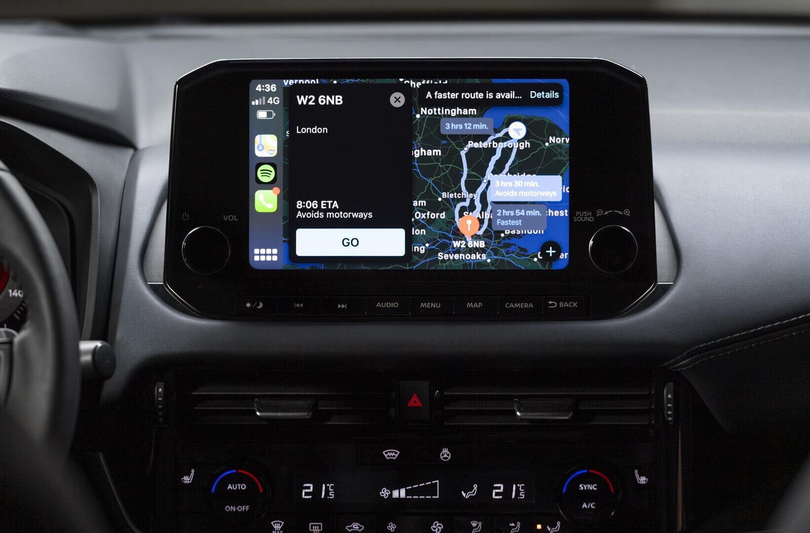 12,3-дюймовый TFT-экран мультимедийной системы Nissan Qashqai 2021 года