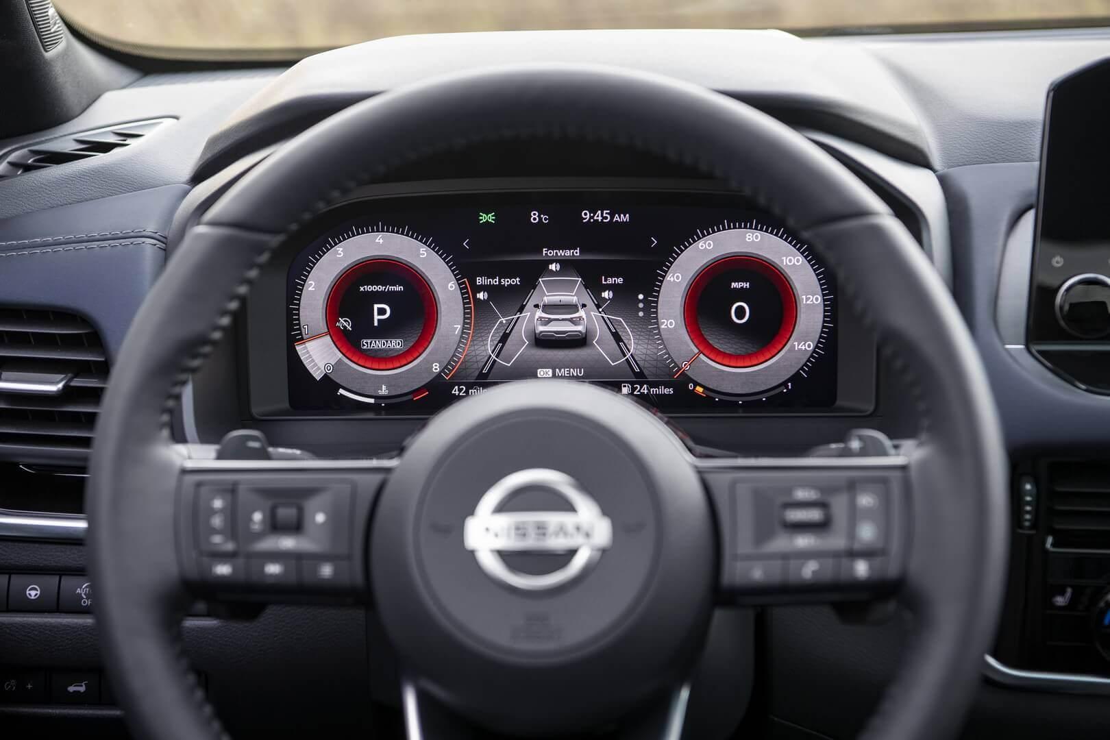 Цифровая приборна панель Nissan Qashqai 2021 года