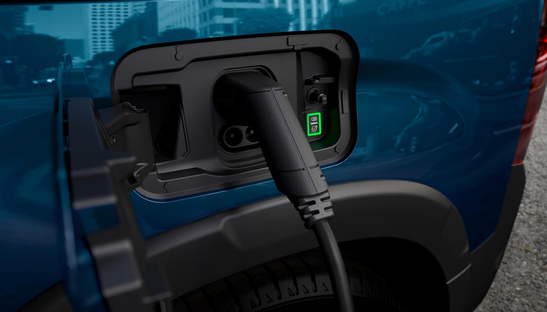Зарядный порт Peugeot e-Rifter