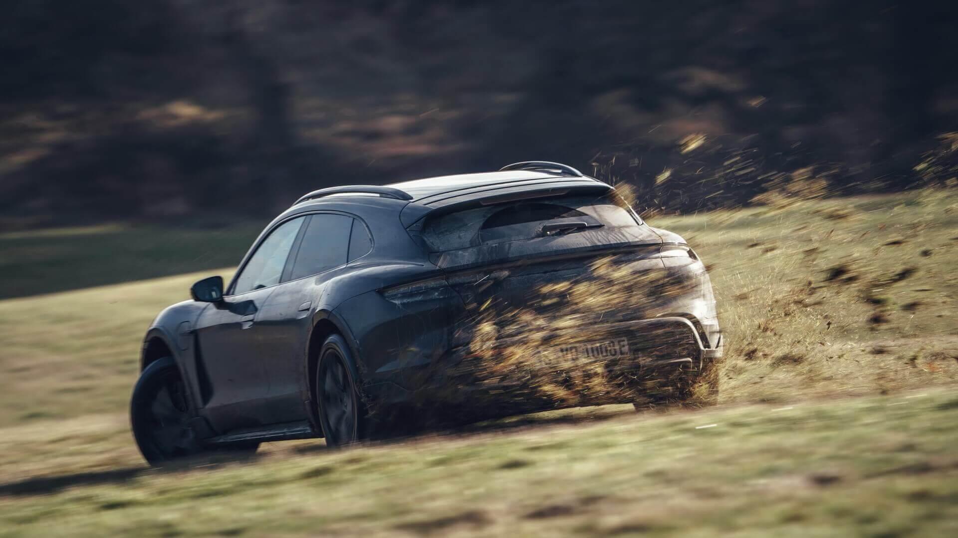 Финальное тестирование первого электрического Porsche Taycan в кузове Cross Turismo