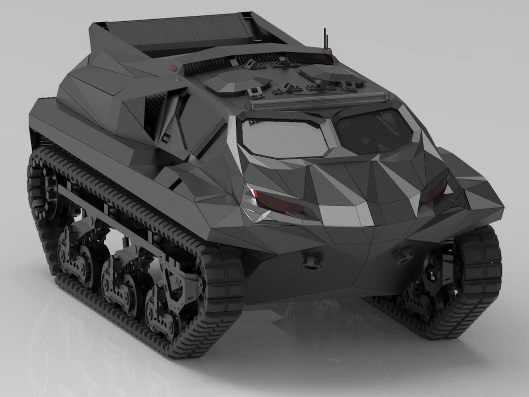 Гибридный автомобиль-амфибия STORM для гражданского и военного применения