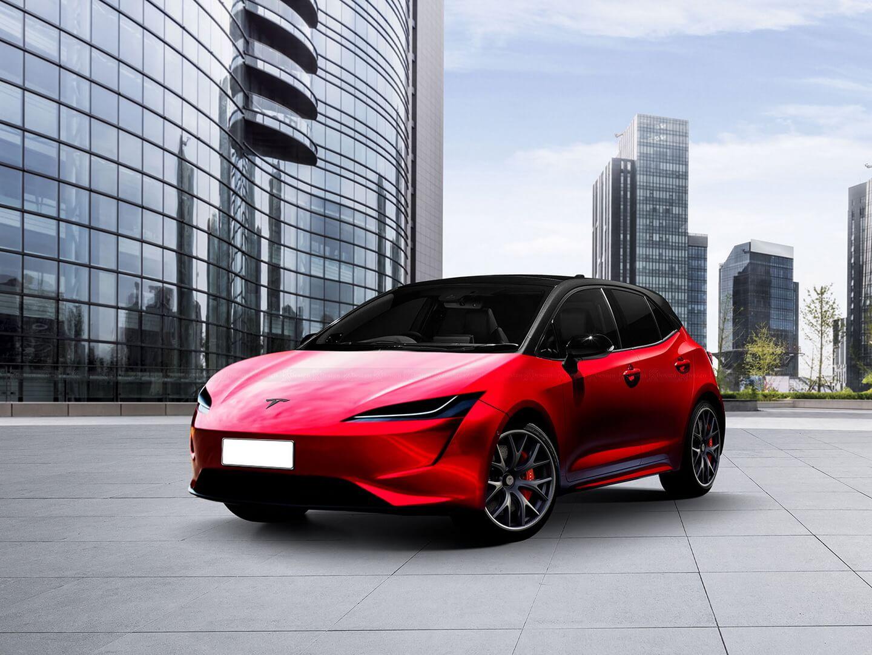 Дизайнер KDesign AG сделал рендеринг бюджетной Tesla за $25 000