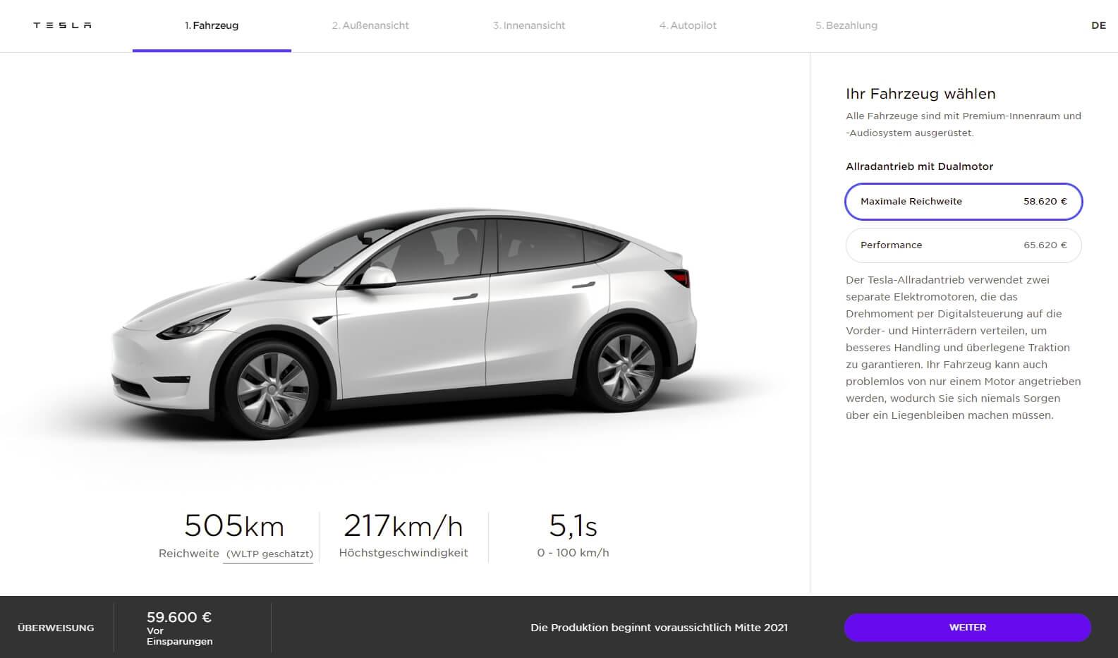 Tesla объявила дату начала поставок европейской Model Y