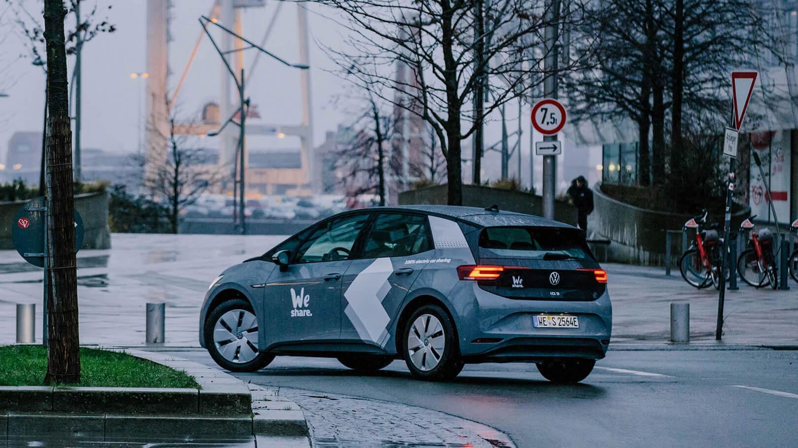 Volkswagen начал каршеринг электромобилей ID.3 в Гамбурге