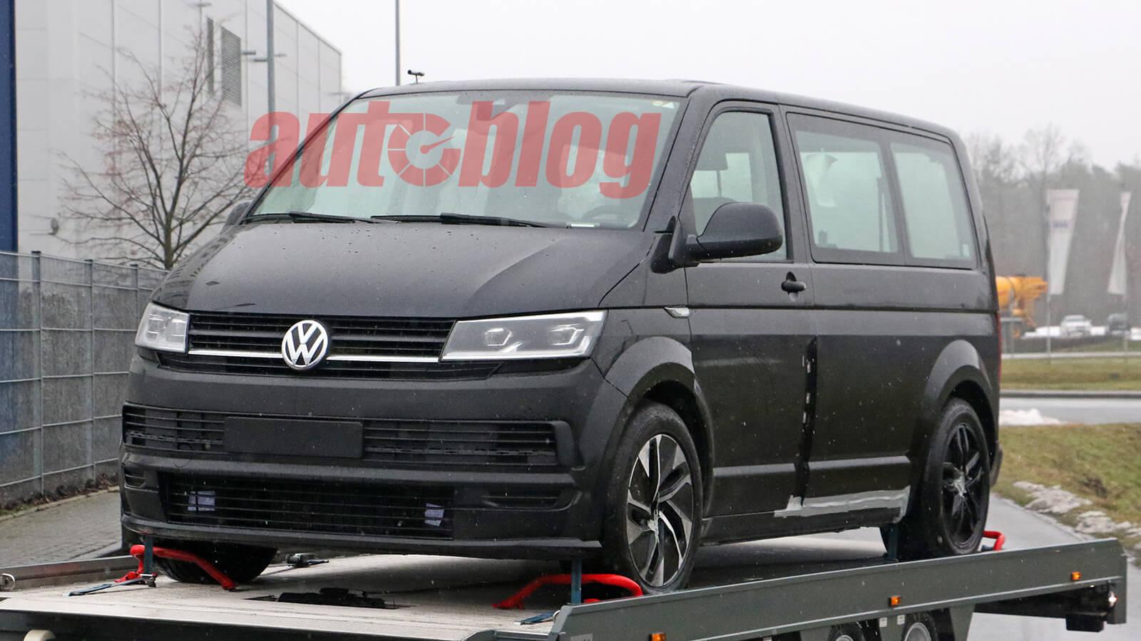 Volkswagen ID.Buzz в облике фургона Transporter