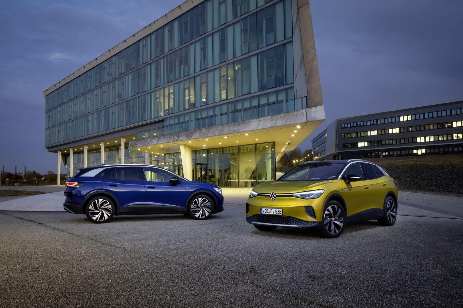 Модели электрического кроссовера Volkswagen ID.4