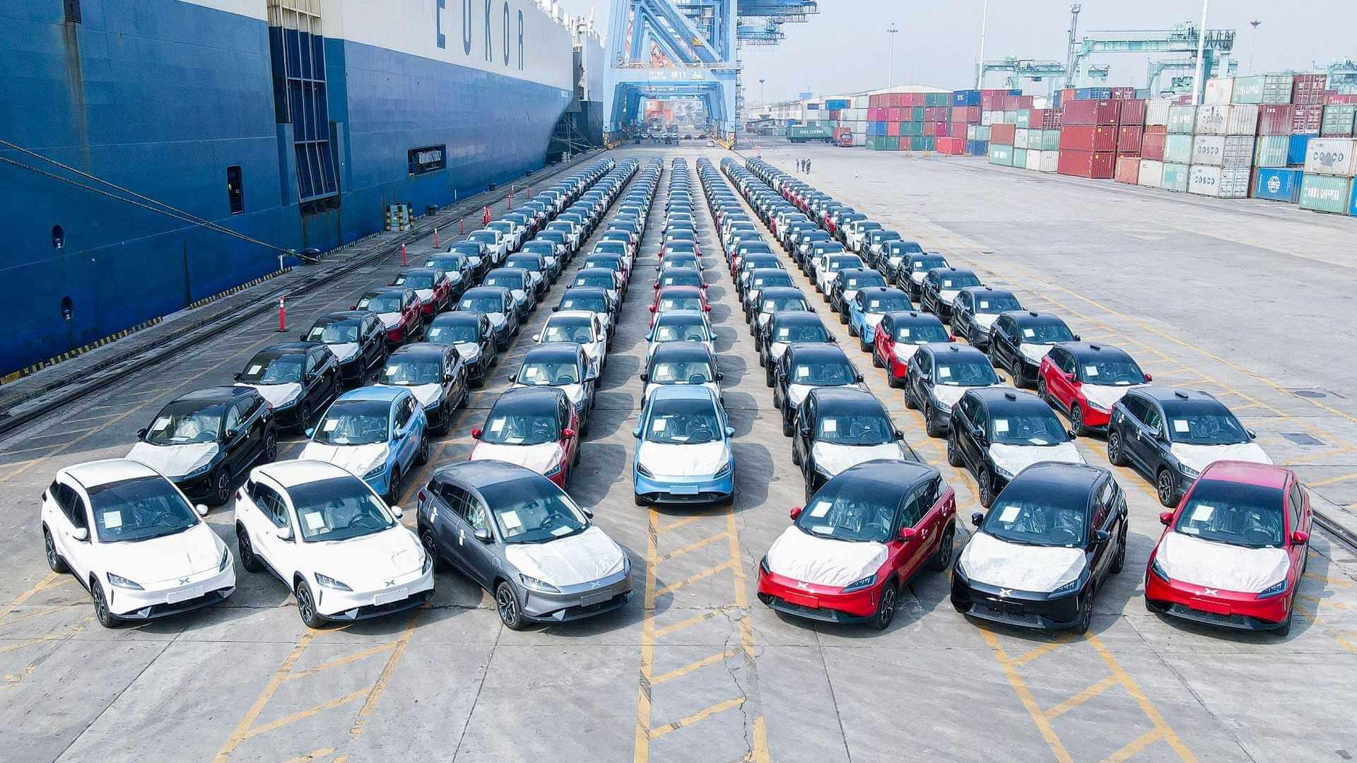 Вторая партия китайских электромобилей Xpeng G3 отправилась в Норвегию