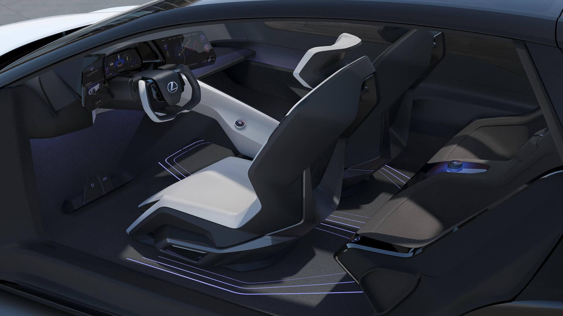 Интерьер Lexus LF-Z Electrified