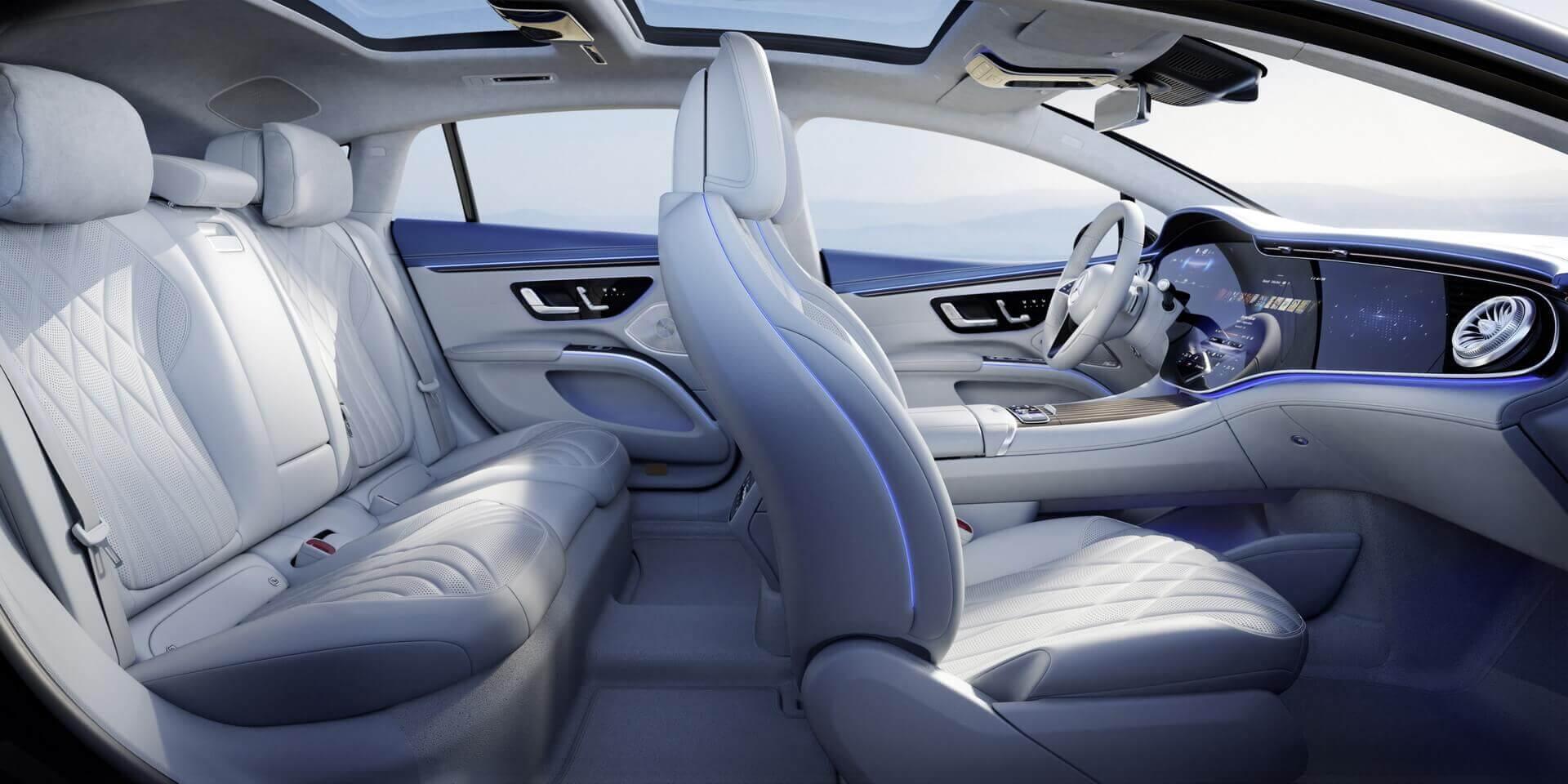 Интерьер Mercedes-Benz EQS: роскошь в цифровом формате