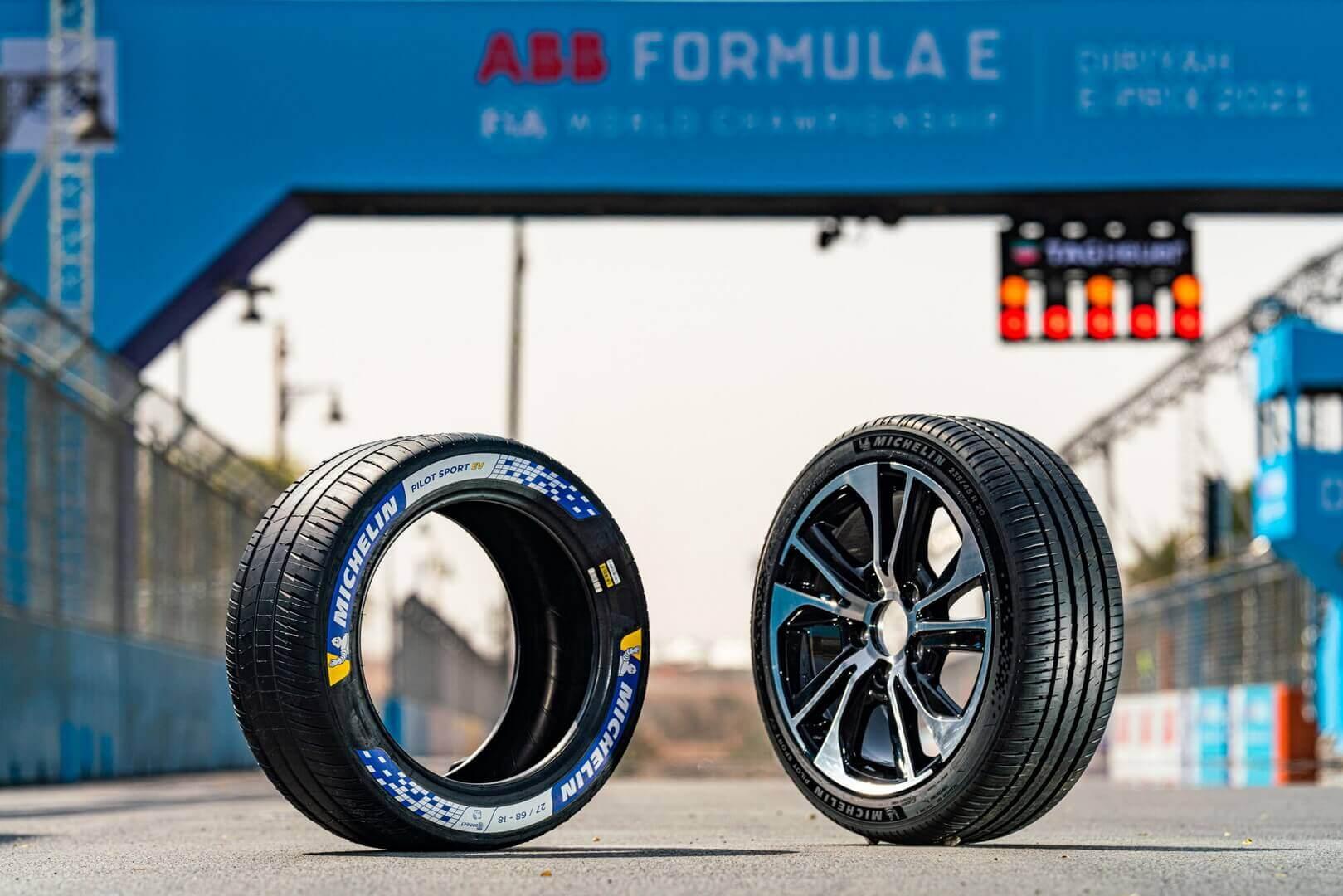 Шина Pilot Sport EV напрямую связана с опытом, достигнутым Michelin за шесть сезонов в Формуле E