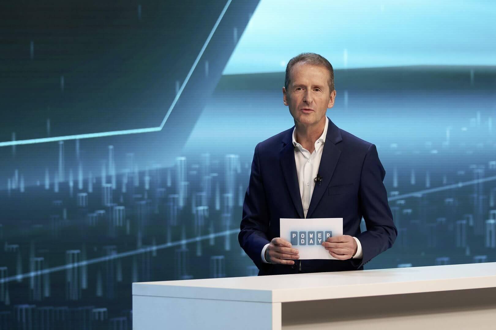 Председатель правления Volkswagen Group Герберт Дисс на мероприятии «Power Day»