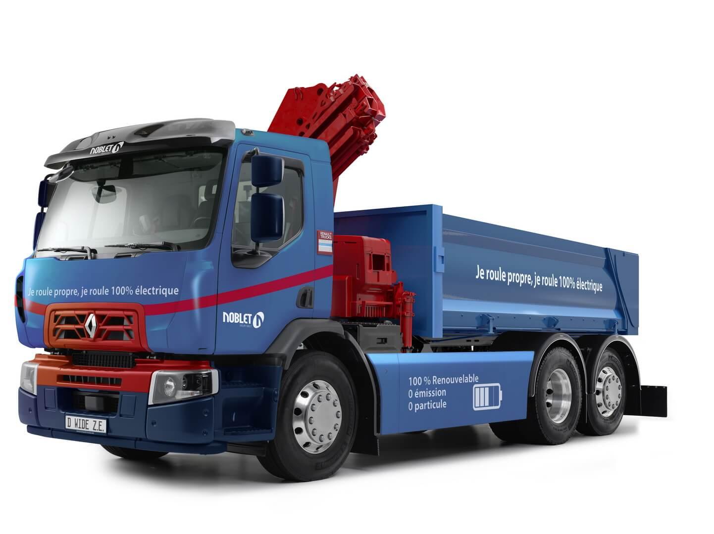 Электрический 26-тонный самосвал Renault Trucks D Wide Z.E.