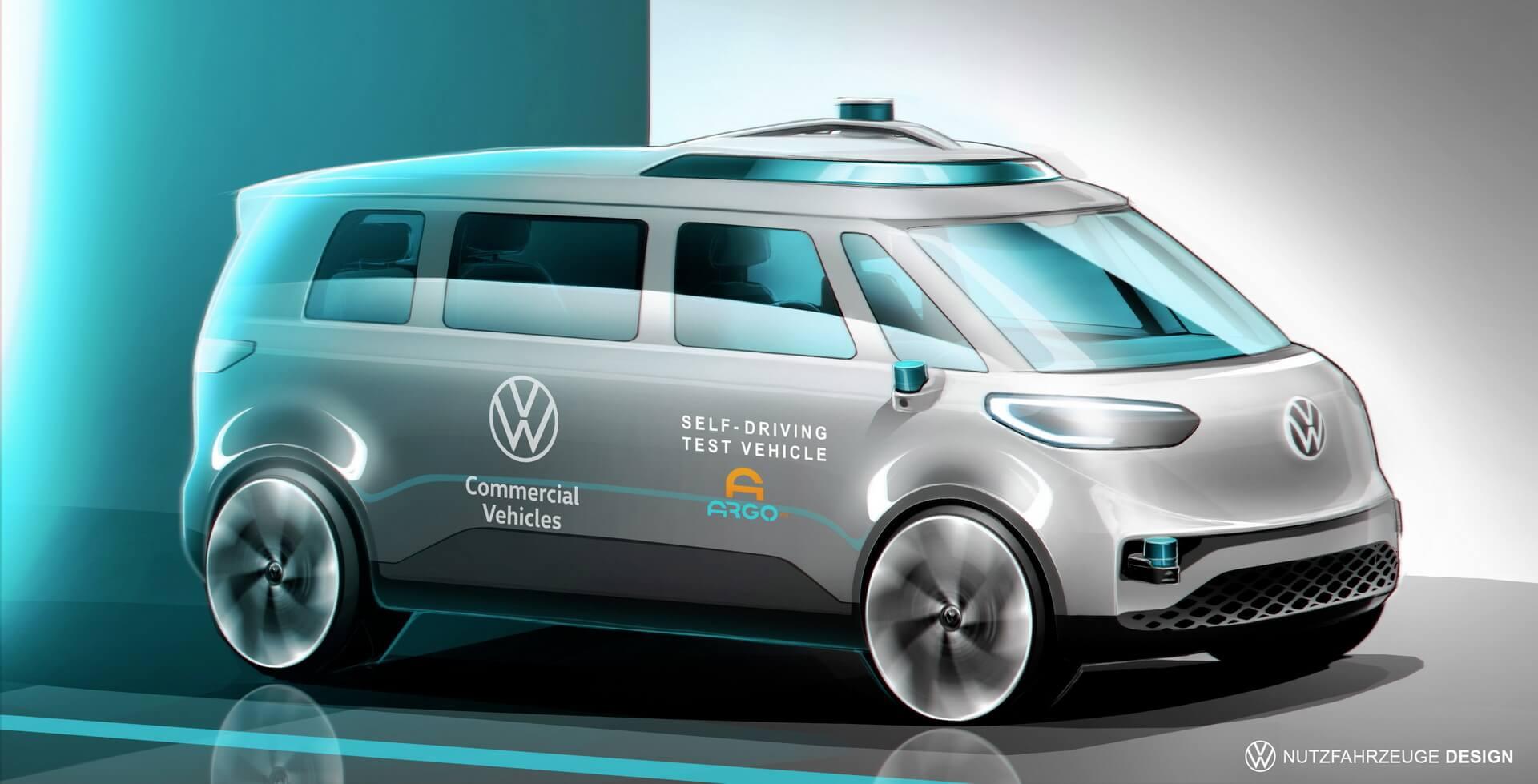 VW ID. BUZZ станет первым автономным фургоном концерна