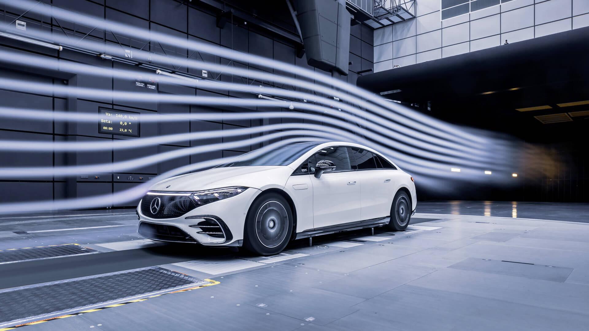 Электрический Mercedes-Benz EQS и рекордная аэродинамика