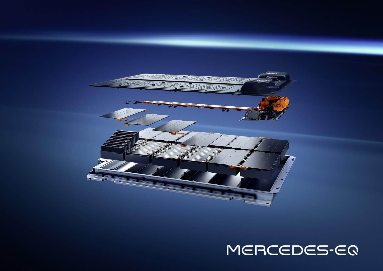 Защищенная конструкция аккумуляторной батареи Mercedes-Benz EQS