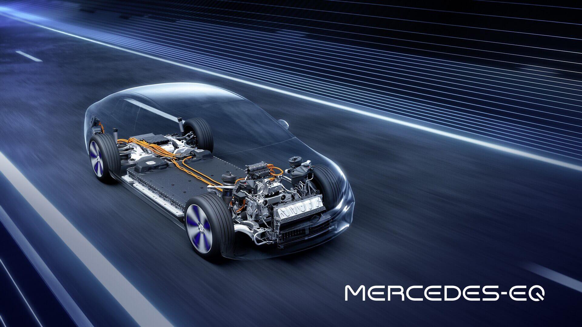 Внастоящее время Mercedes-Benz указывает две версии EQS с разной силовой установкой
