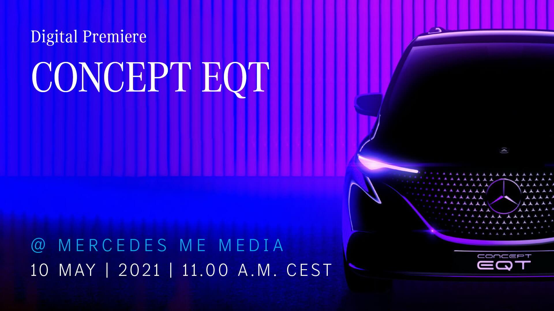 Mercedes-Benz дразнит тизером фургона EQT перед премьерой 10 мая